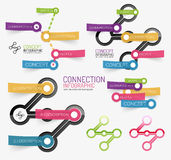 Vector connection theme keyword infographic Royalty Free Stock Photo