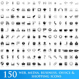 vector cons set for web applications Royalty Free Stock Photo