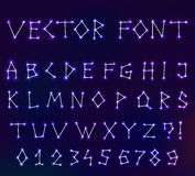 Vector constellation font in space Stock Images