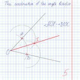 Vector Construct an angle bisector Royalty Free Stock Images