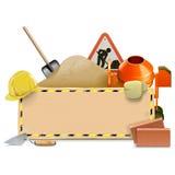Vector Construction Board with Concrete Mixer Royalty Free Stock Photo