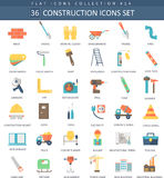 Vector Construction color flat icon set. Elegant style design. Stock Photo