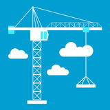 Vector construction crane silhouette industry illustration archi Royalty Free Stock Image