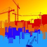 Vector construction crane silhouette industry illustration archi Royalty Free Stock Photos