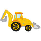 Vector Construction Digger. Vector Excavator. Construction machine. Digger vector illustration Stock Photos