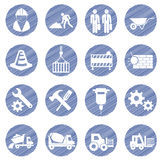 Vector construction icon set Royalty Free Stock Photos