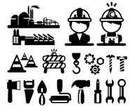 Vector construction icons set Royalty Free Stock Images