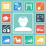 Vector of Construction Icons set Royalty Free Stock Image