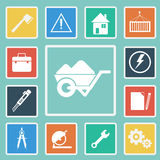 Vector of Construction Icons set Royalty Free Stock Photos