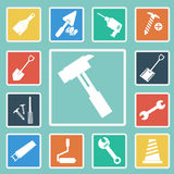 Vector of Construction Icons set Royalty Free Stock Photography