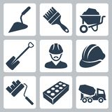 Vector construction icons set stock illustration