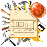Vector Construction Layout. On white background Stock Images