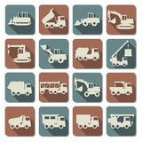 Vector Construction Machines Flat Icons Royalty Free Stock Photos