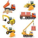 Vector Construction Machines Set 4 Stock Photo