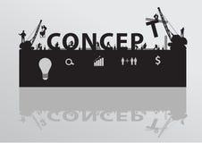 Vector construction site crane building concept te Royalty Free Stock Photography