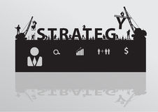 Vector construction site crane building strategy t royalty free illustration