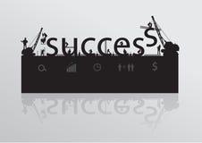 Vector construction site crane building success te Royalty Free Stock Photo