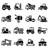 Vector Construction transport icon set Royalty Free Stock Image