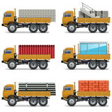 Vector Construction Trucks. On white background Royalty Free Stock Photography
