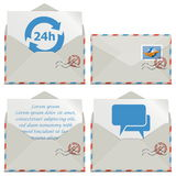 Vector Contact Icons Stock Images