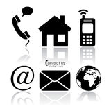 Vector contact icons Stock Photo