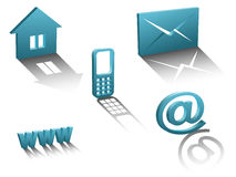 Vector contact icons Royalty Free Stock Photo