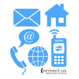 Vector contact symbols Royalty Free Stock Photos