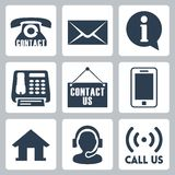 Vector 'contact us' icons set royalty free illustration
