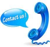 Vector contact us illustration concept Stock Photo