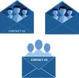Vector contacteer ons pictogram Stock Afbeelding