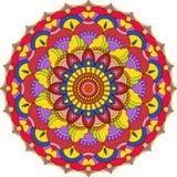 Vector contour Mandala ornament. Oriental round pattern. stock illustration