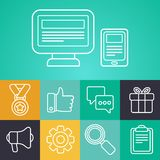 Vector contour outline icons Stock Photo
