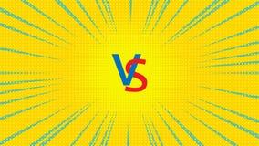 Vector contra el ejemplo Fotos de archivo libres de regalías