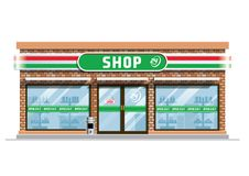 Convenience store building. Vector of convenience store building vector illustration