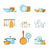 Vector cookery set Royalty Free Stock Photo