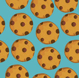 Vector cookie seamless stock illustration