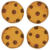 Vector cookie set royalty free illustration