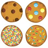 Vector Cookie Set Isolated On White Background Stock Photo