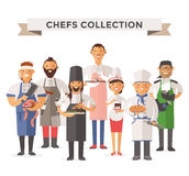 Vector cooking chefs people vector illustration Stock Images