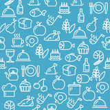 Vector Cooking Concept Outline Royalty Free Stock Photography