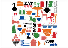 Vector - cooking element. Vector drawing, seamless pattern about food Stock Photo