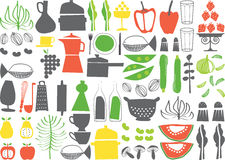 Vector - cooking elements. Vector design elements about cooking Royalty Free Stock Photo