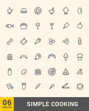 Vector cooking thin icons design set. Royalty Free Stock Photos