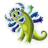 Vector cool cartoon happy smiling monster, simple weird creature Royalty Free Stock Photography