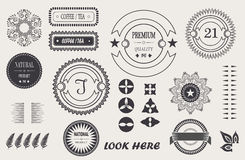Vector cool vintage elements for your design, baroque frame, logo, labels, frames with signature. Stock Photography