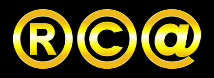 Vector copyright and email symbols Stock Image