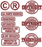 Vector Copyright Trademark Stamps