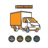 Vector a cor do ícone dos veículos de entrega no fundo branco ilustração do vetor