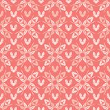 Vector Coral Peachy Flower Butterfly Blooms Floral. Vector Coral Peachy Flower Butterfly Blooms. All Over Print . Floral Seamless Repeating Pattern Background stock illustration