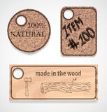 Vector cork labels set Royalty Free Stock Photography
